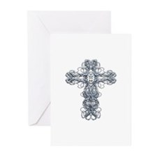 Wire Cross with Miraculous Medal Greeting Cards (P
