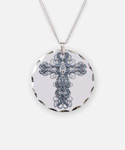 Wire Cross with Miraculous Medal Necklace
