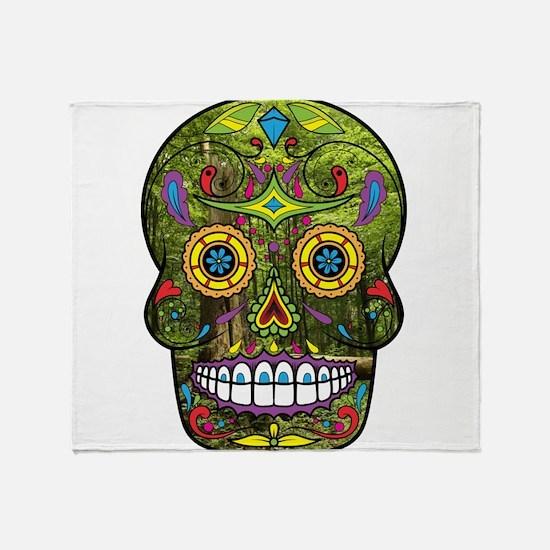 Sugar Skull Throw Blanket
