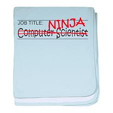 Job Ninja Computer Scientist baby blanket