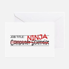 Job Ninja Computer Scientist Greeting Card