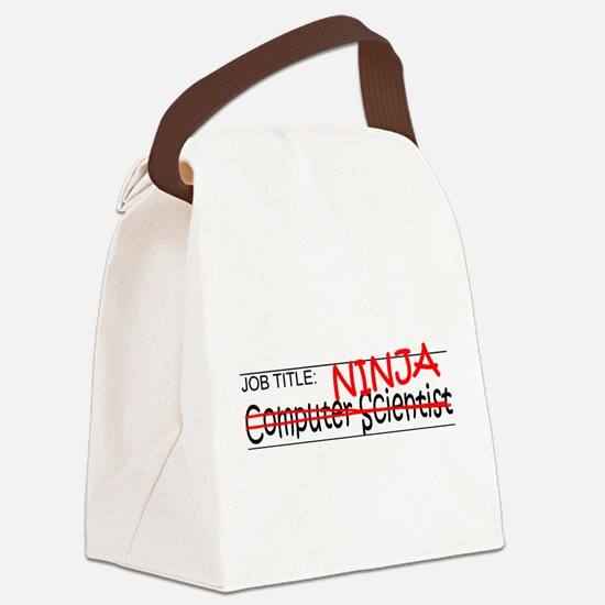 Job Ninja Computer Scientist Canvas Lunch Bag