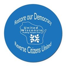 Restore our Democracy Round Car Magnet