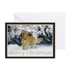 Golden Retriever Merry Christmas Greeting Cards (P