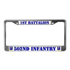 1st Battalion 502nd Infantry License Plate Frame