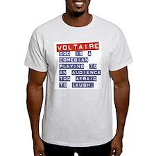 Voltaire's God:  Ash Grey T-Shirt