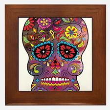 Festival Skull Framed Tile