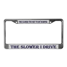 Anti-Tailgaters License Plate Frame