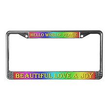 Rainbow Joy ~ License Plate Frame