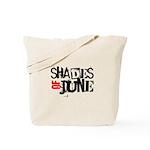 Red/Black Stamp Logo Shirt Tote Bag