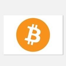 BitCoin - Orange Postcards (Package of 8)