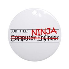 Job Ninja Computer Engineer Ornament (Round)