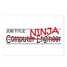 Job Ninja Computer Engineer Postcards (Package of