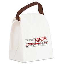 Job Ninja Computer Engineer Canvas Lunch Bag