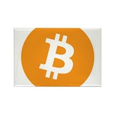 BitCoin - Orange Rectangle Magnet (10 pack)