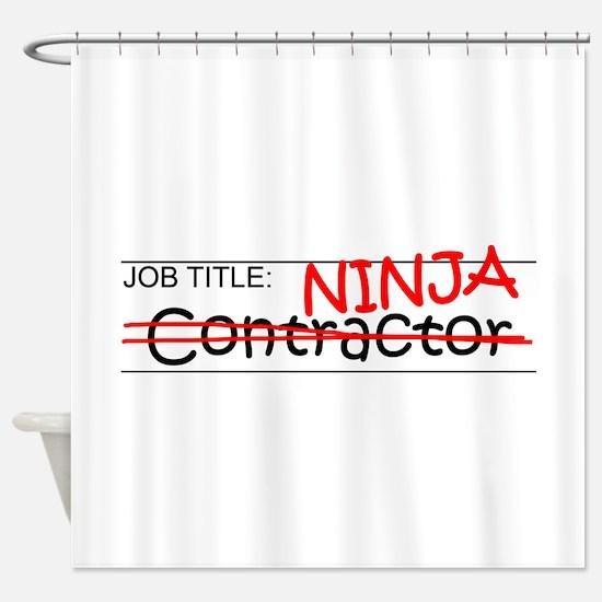 Job Ninja Contractor Shower Curtain