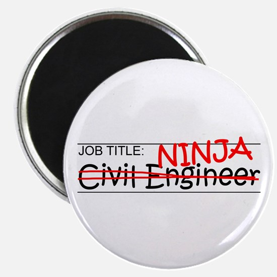 "Job Ninja Civil Engineer 2.25"" Magnet (10 pack)"