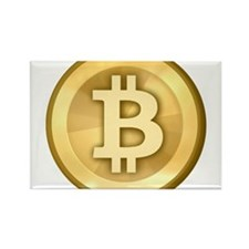 BitCoin Gold Rectangle Magnet (10 pack)