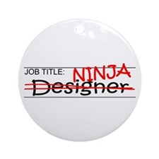 Job Ninja Designer Ornament (Round)