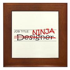 Job Ninja Designer Framed Tile