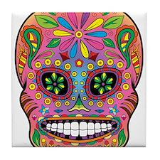 Sugar Skull Tile Coaster