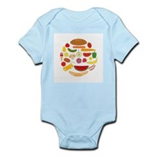 Foods In Circle - Infant Bodysuit