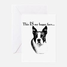 Boston Happy Face Greeting Cards (Pk of 10)
