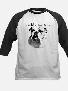 Bulldog Happy Face Tee