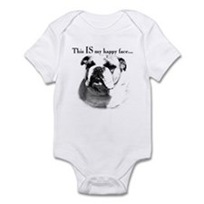 Bulldog Happy Face Infant Bodysuit