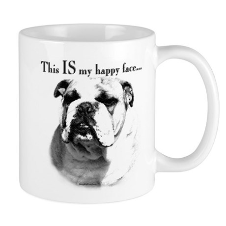 Bulldog Happy Face Mug