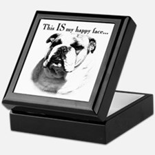 Bulldog Happy Face Keepsake Box