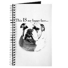 Bulldog Happy Face Journal