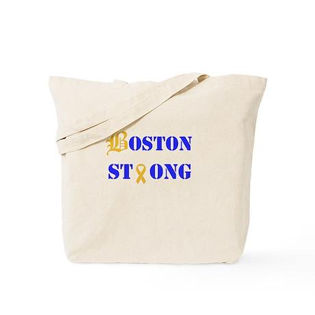 Boston Strong Stylized B Ribbon Tote Bag