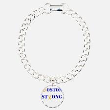 Boston Strong Stylized B Ribbon Bracelet