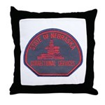 Nebraska Corrections Throw Pillow