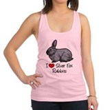 Silver fox rabbit Womens Racerback Tanktop