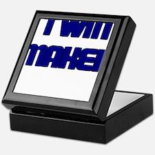 TWIN MAKER BLUE Keepsake Box