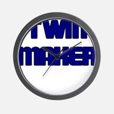 TWIN MAKER BLUE Wall Clock