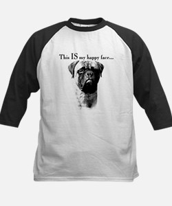 Bullmastiff Happy Face Kids Baseball Jersey