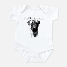 Bullmastiff Happy Face Infant Bodysuit