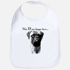 Bullmastiff Happy Face Bib