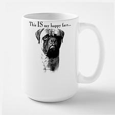 Bullmastiff Happy Face Large Mug