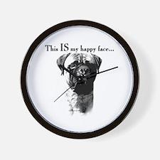 Bullmastiff Happy Face Wall Clock