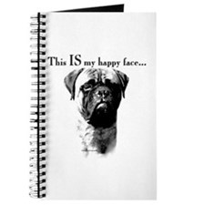 Bullmastiff Happy Face Journal