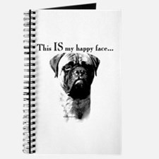 Bullmastiff Happy Face Journal