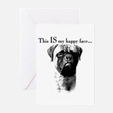 Bullmastiff Happy Face Greeting Cards (Package of