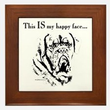 Dogue Happy Face Framed Tile