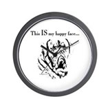 Bordeaux mastiff Wall Clocks