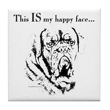 Dogue Happy Face Tile Coaster
