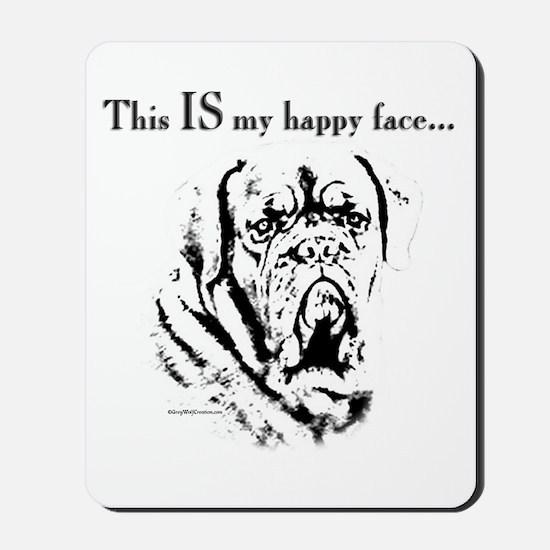 Dogue Happy Face Mousepad